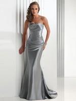 Elegant Mermaid Strapless Sleeveless  Beaded  Floor Length  Evening  Dress Prom Homecoming  Dresses