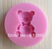 1PCS cute bear shape Chocolate Candy Jello 3D silicone Mold Cartoon Figre/cake tools Soap Mold Sugar craft Cake Decorationv