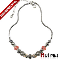 New Arrival Fashion Women Colorful Spacer Chunky Beads Crystal Statement Charms Necklace Jewelry