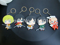 5 pcs lot Shingeki no Kyojin Attack on Titan Eren Mikasa Armin Rivaille keychains free shipping