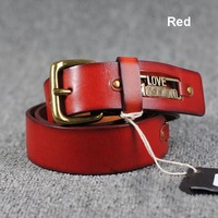 100% Genuine Leather New 2013 Women Vintage Wide belt Fashion designer brand  LOVE MOS Jeans Straps For Girl Woman Cinto WBT0011