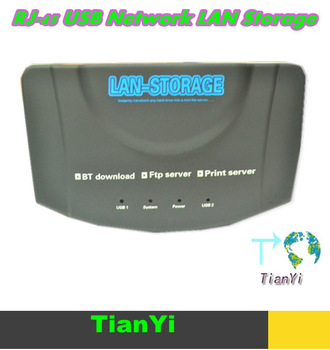 RJ-45 USB Network LAN Storage BT Download Nas Ftp Samba Print Server BT CLIENT Free Shipping Drop Shipping