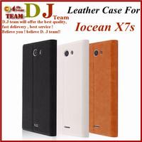 In stock white Iocean X7S x7 hd flip leather case Iocean X7S x7 hd pouch case PU flip case for Iocean X7S x7 hd black