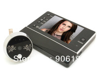 """3.5"""" LCD TFT screen 120 degree wide angle Photo+Video taking+nightvision,3xzoom digital door peephole viewer camera 8 languages"""