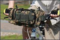 Green Mosaic New Bike Bicycle Multifunction handlebar Bag Waist Bag Shoulder Bag