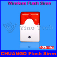 433mhz CG-WS103 Wireless Strobe Siren for CHUANGO GSM SMS Wireless Home Security Burglar Alarm System G5 / G3