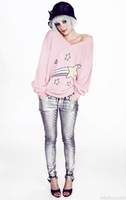 2013 V-Neck Kanuwa brand Star Sweater Hot-Selling Women Fashion Pink And Green Sweater Knitwear Pullover Winter Tops