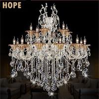 Villa crystal  light Penthouse living room chandeliers E14*8 pcs