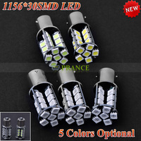 1156 1157 2PCS/Lot 1156 30 SMD 220lm LED Car Turn Signal Tail Lamp Light  Car Turn signal Brake stop light bulb parking light