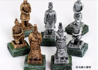 Free Shipping Resin terracotta warriors small decoration commercial souvenir gifts Special souvenirs Chinese characteristics