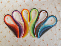 wholesale Price 600pcs/pack Length 0.3*39cm 30Color  for Child Mult Colour Craft Quilling Paper