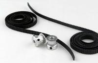 One set of gear wheel and conveyer belt  for 3D printer Reprap, 2*wheel+1*belt, provide all kind of 3D printer parts