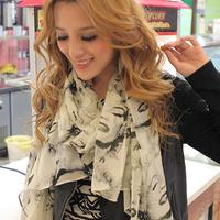 Free Shipping Marilyn monroe vintage all-match women's silk scarf chiffon long silk scarf cape
