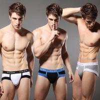 2 taczik male panties cotton lycra comfortable panties sexy trigonometric u male panties