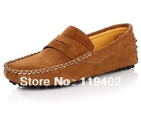 Free Shipping 2013 NEW Autumn brand100% genuine leather mens boat shoes designer casual male sneakers flat loafers size:38 to 44