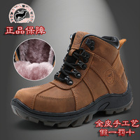 Free shipping  winter  boys and girls genuine leather cowhide fashion brand sneakers warm snow boots black brown size: 33-38
