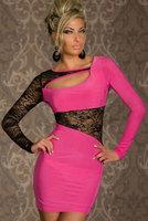 Discounted Women Sexy Lace Long Sleeves Tunics Mini Club Wear Dress Brand Sheath Bow Open Back Pencil Dresses Drop Ship