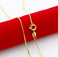 24KRGP Chain -PBDN92 Hot selling Length:45CM Width:0.5MM chains gold 24k high quality fadeless 24K Gold Plated necklace for men
