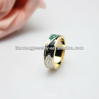 Free Shipping 2013 manufacture newest design dark tone enamel Rings