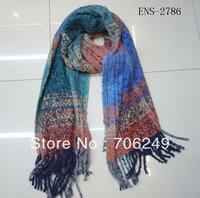 FREE SHIPPING,2013 Winter scarf,warm shawl,acrylic shawl,check design,Yarn dye  scarf,women's shawl,soft touch,size is 55*200cm