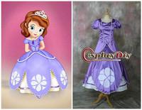 Sofia the first dress cosplay costume custom-made princess dress for Halloween Costume