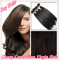 Cheap 5A Cambodian Virgin Hair Straight Weave,Unprocessed 2/3/4/5 pcs Mixed Lengths,Free Shipping