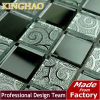 KINGHAO - hot sale wall tile mosaic glass mosaic  home improvement KM2524 wallpaper for bathroom