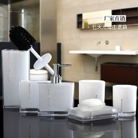 Free shipping bathroom set acrylic bathroom 6 pcs/set  bathroom accessories with soap dispenser etc 4 colors YKLA-6