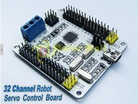 32 Channel Servo Motor Control Board For Robot Spide Compatible PS2 Controller Free shipping