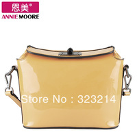 womens clutch bags 2013 candy color japanned leather cowhide women's handbag cross-body bag small women leather handbags
