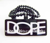 Free shipping  Black card DOPE  Hot sale Acrylic Jewelry  hip hop Beads  Necklace good necklace   (10pc/lot)
