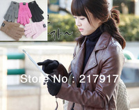 Free Shipping thick screen touch glove unisex winter touch gloves all touch for iphone ipad for all smartphone 5 colors