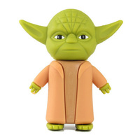 hotsale cheapest New arrival(50pieces/lot) star war Yoda warrior model usb stick/memory/pen drive1GB,2GB,4GB 8GB 16GB 32GB
