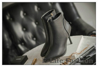 Women Leather Boots Autumn Winter Ankle Boots Shoes High Heel Pointed Toe Zipper Boots To Ware SL123
