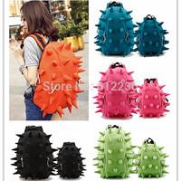 New Backpack Rivet Hedgehogs Casual Canvas Travel Bag L Size Black Color for Boys Girls Children Kids School Bag Best Gift Bag