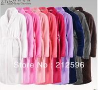 2013 new fashion Winter lovers male Women coral fleece robe bathrobes sleepwear thickening lengthen, Free shipping