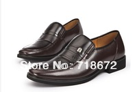 Free shipping 2013 New men's business, Leather, everyday casual shoes, Dress shoes first layer leather dress shoes wedding party