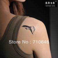 Tattoo girl genuine DIY cartoon turtle dolphin tattoo sticker waterproof tattoo stickers T025