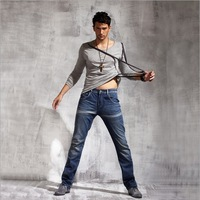 Super hot sell dark blue cool Jeans washing and stonewashing fashion jeans men's straight pants free shipping
