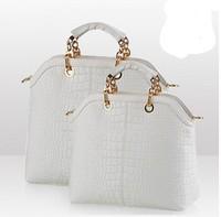 2013 New fashion Genuine leather brand handbag women, Personality canvas bags women shoulder bag ,women's POLO handbag totes