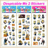 Free Shipping 50set EVA Kid Foam 3D DIY Child Cartoon Despicable Me 2 Puffy Car Wall Sticker Action Figure Toy Gife for Children