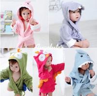 Top Quality!Retain,1pcs!New2013Lovely Owl&shark Baby Bath Towels, Children's bath Robe,Cotton kids Hooded Bathrobe with 5design