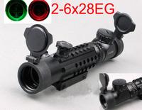 Brand New 2-6x28EG Zoom Tri 21mm Rail Red&Green Dot Reflex Rangefinder Riflescope For Hunting