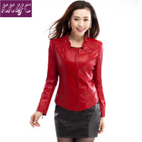 New 2013 Autumn Fashion Big size Leather Short Coat,Free Shipping slim Wtand collar Water washed Leather jacket PU Outerwear,5XL