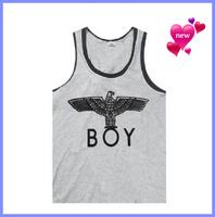 Free Shipping Boy London Brand Cheap Shop Cheap 2014 Men Stylish Streetwear Fashion London Boys Printing Vest Tshirt