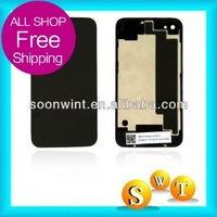 wholesale buiness battery cover for iphone 4S battery cover (with logo)  + good quality + Free shipping by DHL