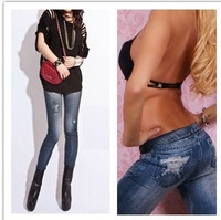 2013 Hot Women's Star Printed Pants Faux Jeans Seamless Leggings Sexy Ladies Novelty Women Legging SWL-061