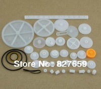 2 bags 34 kinds of gear bag toy model gear, rack, gear, worm, pulleys, plastic gear free shipping
