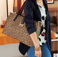 Free Shipping 2013 New Hot Popular Leopard Handbag Fashion PU Leather Designers Brand Women's Shoulder bag Wholesale 0074