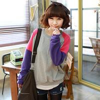 2014 Fashion Clothes Women Autumn  Winter Korean Colorful Loose Long sleeve Casual Pullover Sweatshirt Jackets moleton feminino